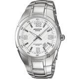 CASIO 卡西歐 EDIFICE 三針系列手錶-白x銀 EF-125D-7AVUDF
