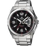 CASIO 卡西歐 EDIFICE 三針系列星期日期手錶-黑x銀  EF-129D-1AVUDF