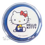 〔小禮堂〕Hello Kitty 桌上型吸塵器《藍白.側坐.吊帶褲》掌上型.盒裝