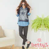 betty's貝蒂思 波卡圓點彈性長褲(黑色)