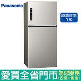 (1級能效)Panasonic國際650L雙門變頻冰箱NR-B659TV-S(銀河灰)含配送到府+標準安裝
