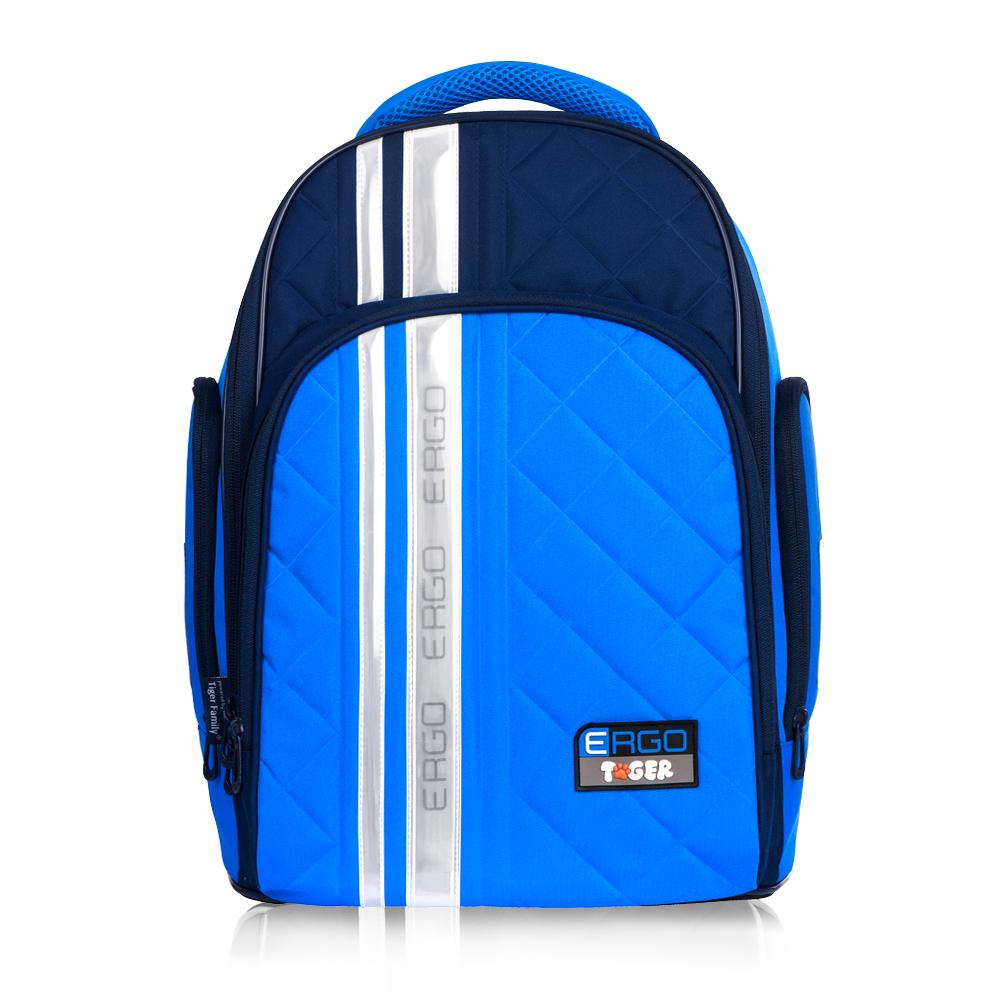 Tiger Family彩虹超輕量護脊書包(撞色款)-海軍藍