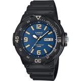 CASIO 卡西歐 DIVER LOOK 潛水運動風手錶-藍x黑 MRW-200H-2B3VDF