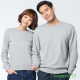 bossini男裝-圓領厚棉T恤17淺灰