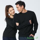 bossini男裝-圓領厚棉T恤17黑