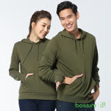 bossini男裝-連帽厚棉T恤17軍綠