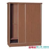 【品味居】羅比 時尚6尺推門衣櫃/收納櫃(五色可選+吊衣桿+收納鐵籃)