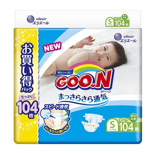 【GOO.N日本大王】日本境內NHK 版黏貼型S(104片X2串/箱)