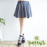 betty's貝蒂思 格紋英倫女孩短裙(深藍)