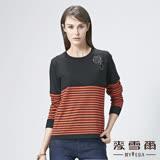 【麥雪爾】山茶花NO.5條紋針織上衣-柑