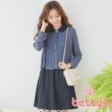 betty's貝蒂思 打摺設計雪紡洋裝(藍灰色)