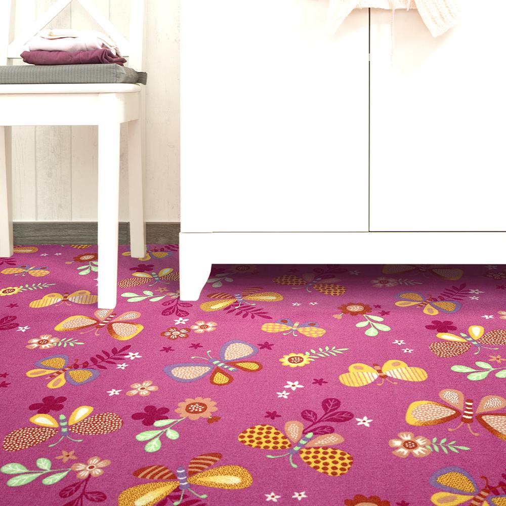 【范登伯格】花舞★可愛蝴蝶世界進口地毯-小款(紅)-100x150cm