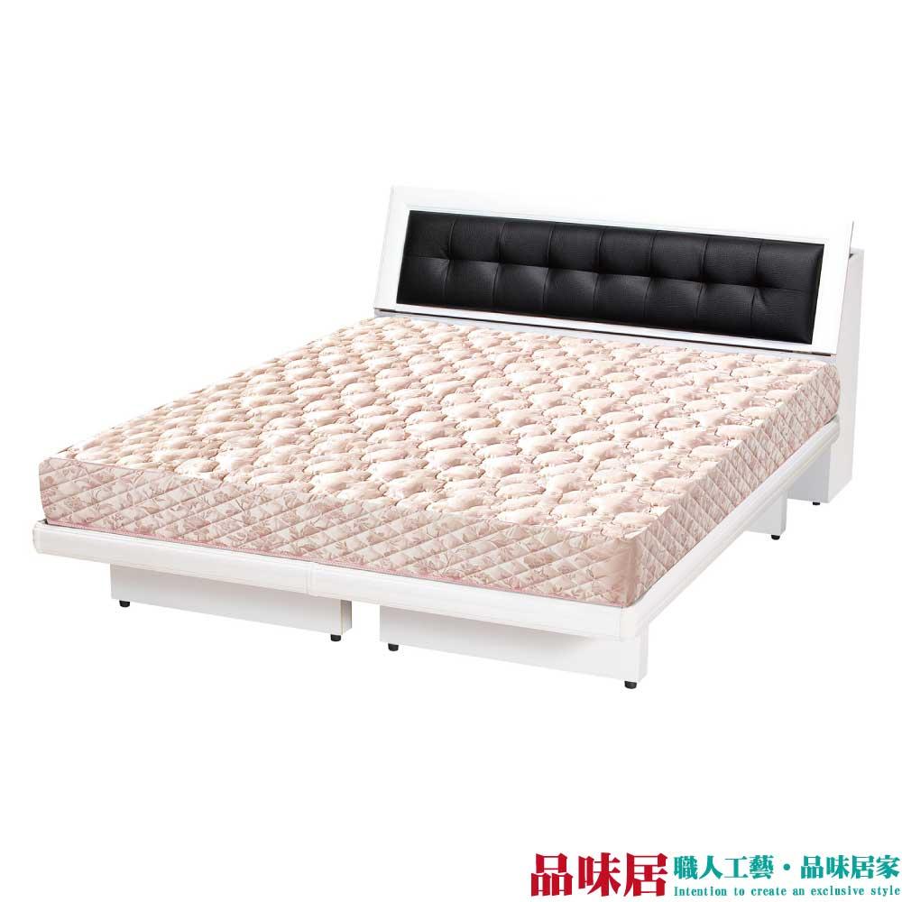 【品味居】米比 時尚6尺皮革雙人加大床台組合(六色可選+不含床墊)