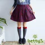 betty's貝蒂思 格紋英倫女孩短裙(紅色)