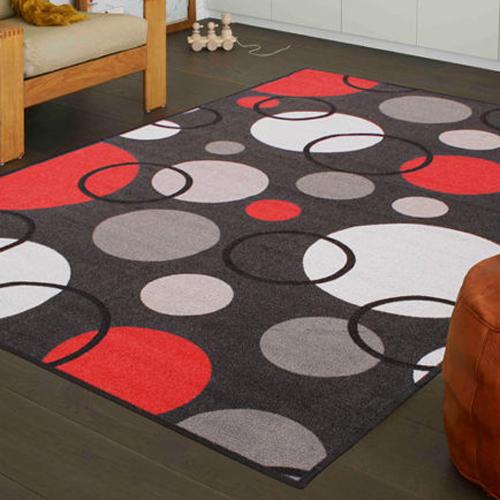 【范登伯格】炫彩★圓圈變幻色彩活潑進口地毯-小款(咖啡)-100x150cm