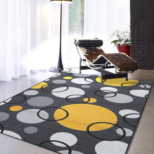【范登伯格】炫彩★圓圈變幻色彩活潑進口地毯-小款(灰)-100x150cm