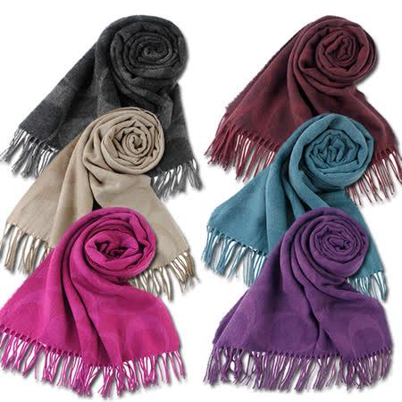 COACH  流蘇羊毛圍巾披巾