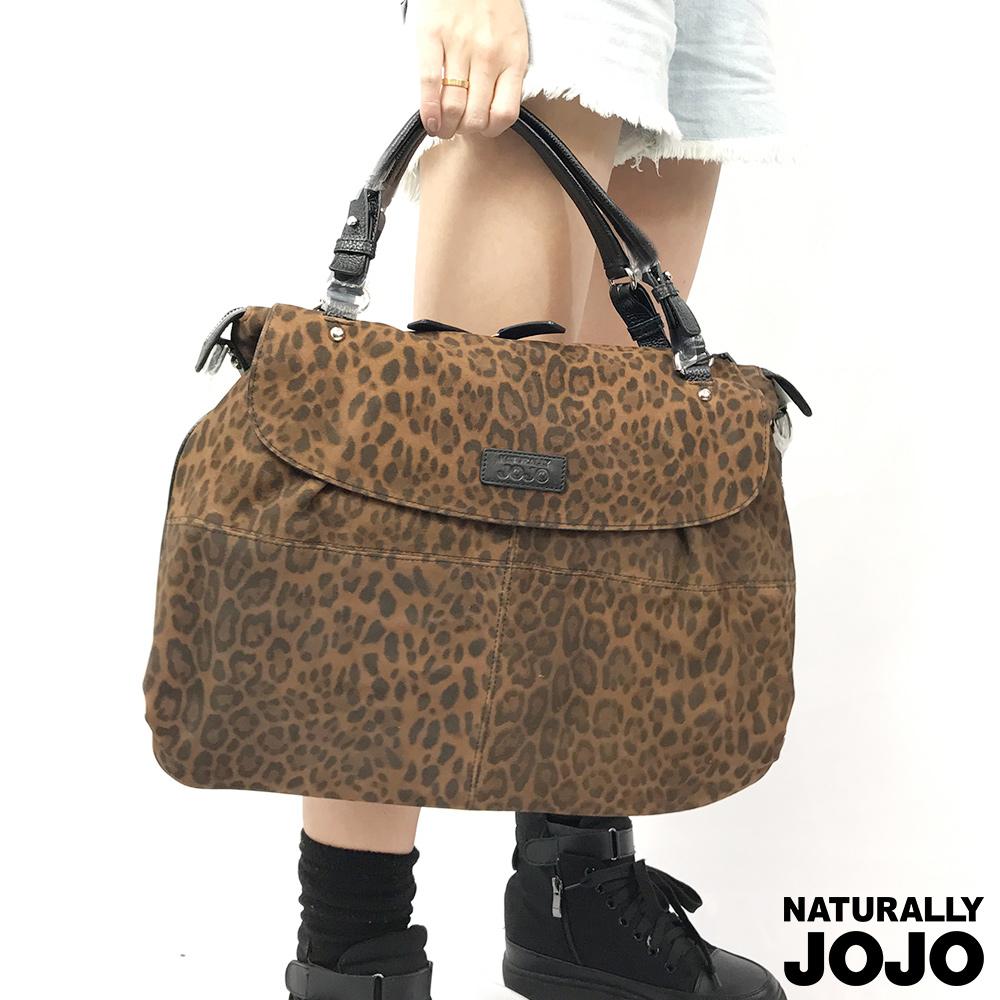 【NATURALLY JOJO】豹紋真皮托特包(咖啡)