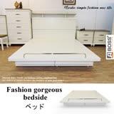 【ABOSS】5尺白色雙人床架/床底/日式風