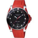 GUCCI 古馳 Dive 品牌色系200米潛水錶-紅/40mm YA136309