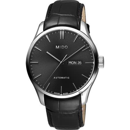 MIDO美度 Belluna Gent 經典日期機械錶-黑/42mm M0246301605100