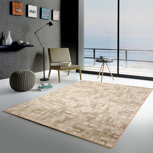 【范登伯格】渲染★漸層抽象復古氛圍進口地毯-小款(淺棕)-100x150cm