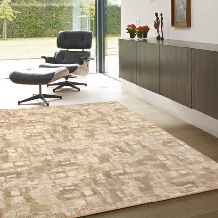 【范登伯格】渲染★漸層抽象復古氛圍進口地毯-中款(淺棕)-150x200cm