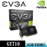 【EVGA艾維克】GT710 2GB DDR5 LP 64Bit PCI-E 圖形加速卡(02G-P3-3713-KR)顯示卡
