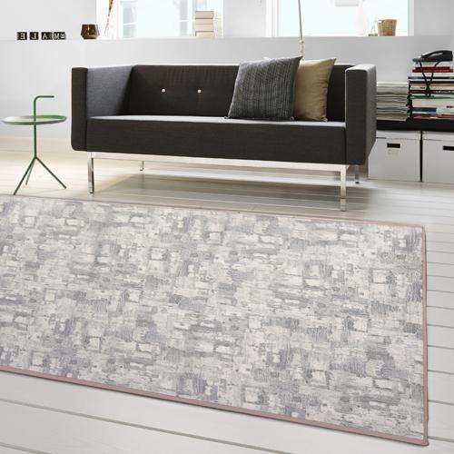 【范登伯格】渲染★漸層抽象復古氛圍進口地毯-小款(淺灰)-100x150cm