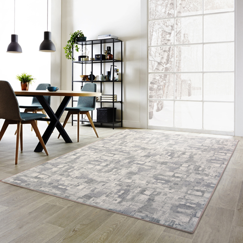 【范登伯格】渲染★漸層抽象復古氛圍進口地毯-大款(淺灰)-200x290cm