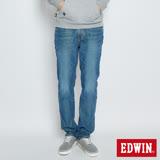 EDWIN 迦績褲JERSEYS全黑腰頭中直筒牛仔褲-男-中古藍