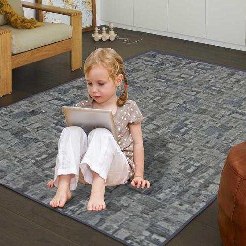 【范登伯格】渲染★漸層抽象復古氛圍進口地毯-小款(深灰)-100x150cm