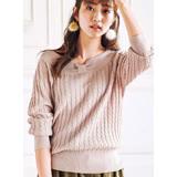 日本ANNA LUNA 預購-蝴蝶結造型領口2WAY針織上衣(共五色/M-3L)