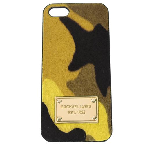 MICHAEL KORS 馬毛迷彩風格iPHONE 5 手機殼(黃綠)
