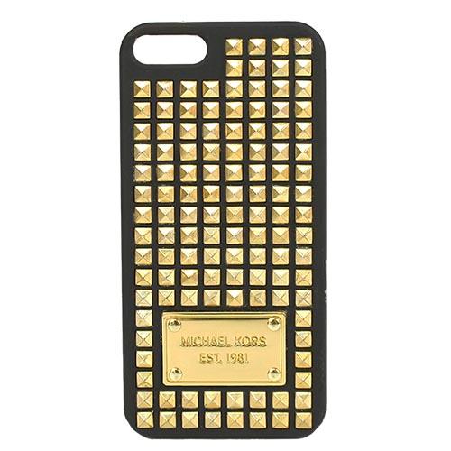 MICHAEL KORS 鐵牌鉚釘iPHONE 5 手機殼(黑)(附盒)