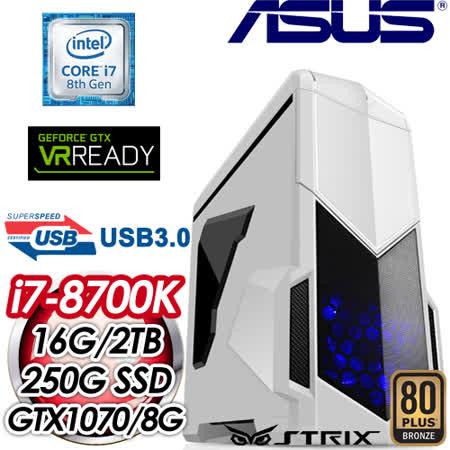 華碩 GAMER【金睛火眼】Intel i7-8700K 六核心 電競專屬電腦