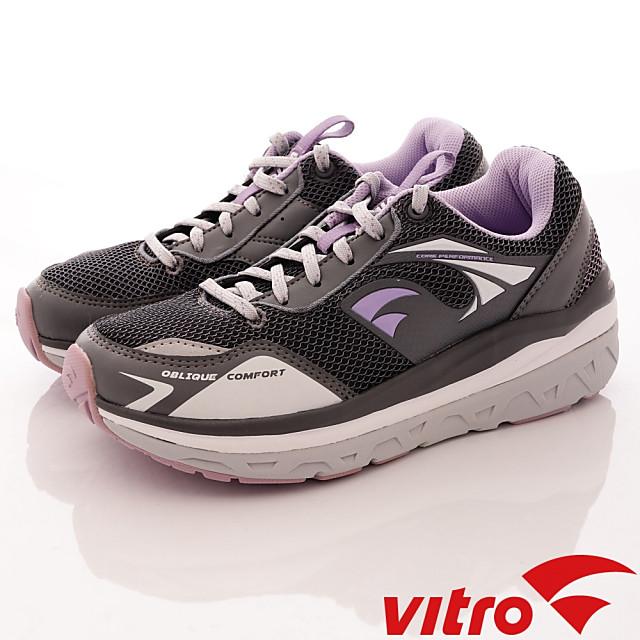 Vitro韓國專業運動鞋-Walking-頂級專業健走機能鞋-OC104-女-灰紫-23cm-24cm