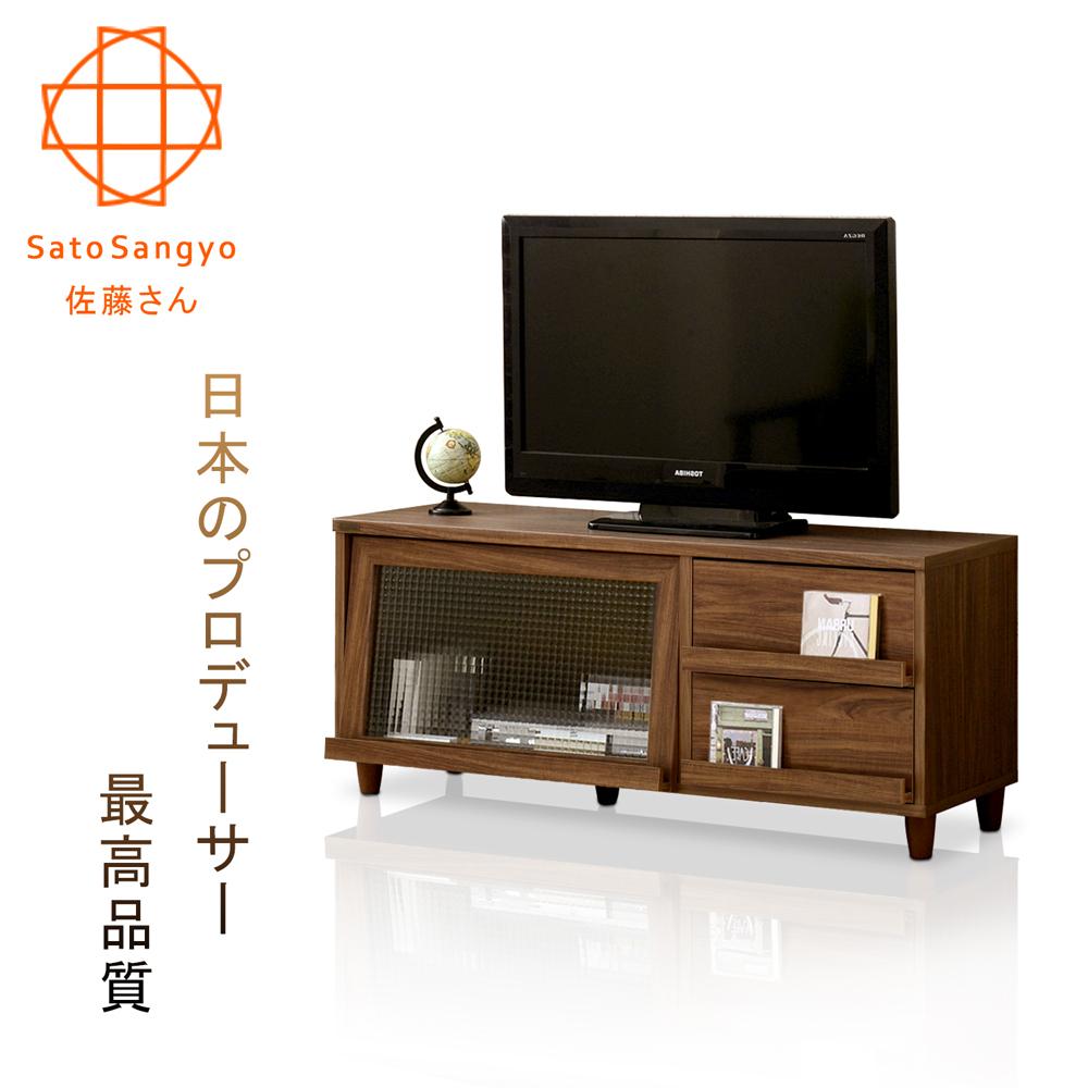 【Sato】NEFLAS時間旅人二抽一門電視收納櫃-幅120cm