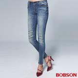 【BOBSON】女款1971日本進口黑標小直筒褲(BSR006-WD)