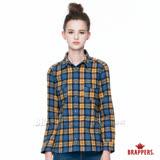 BRAPPERS 女款 女用雙口袋長袖格紋襯衫-黃