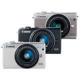 Canon EOS M100+15-45mm IS STM 變焦鏡組(公司貨).-送64G記憶卡+相機包+大吹球+清潔組+保護貼+保護鏡49mm