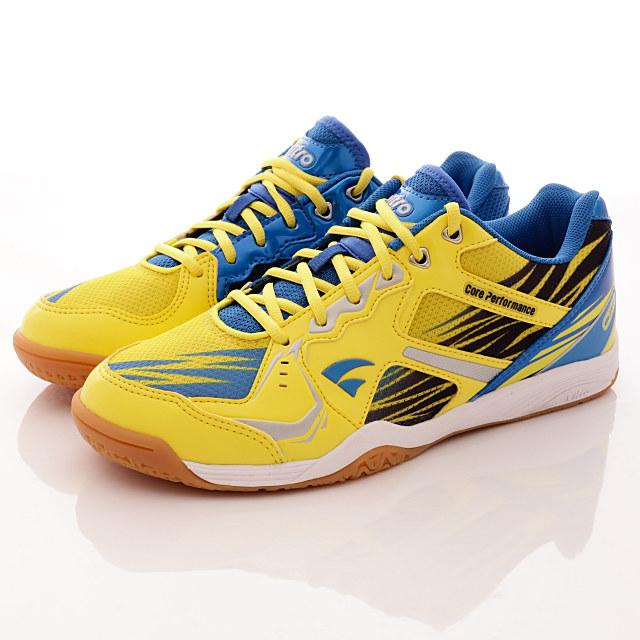 Vitro韓國專業運動鞋-BLAZEⅢ-頂級專業桌球鞋-黃藍-男款--25.5cm-28.5cm