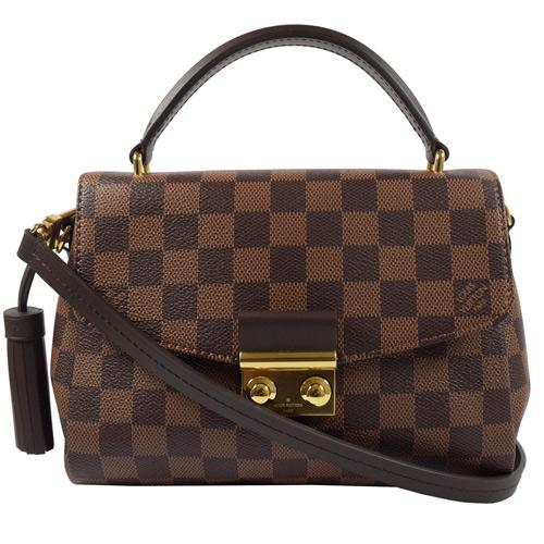 Louis Vuitton LV N53000 Croisette 棋盤格紋流蘇吊飾手提兩用仕女包 現貨