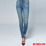 BOBSON 女款1971 日本進口黑標 小直筒褲(BSR010-WD)