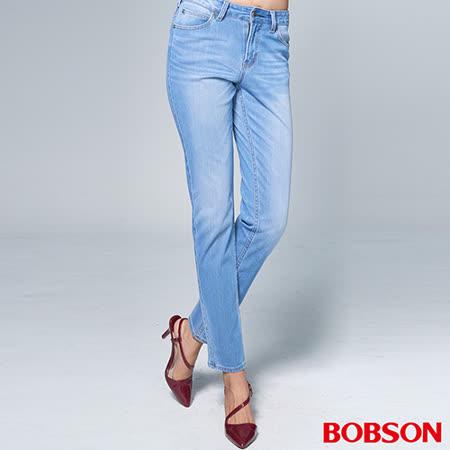 BOBSON 女款1971日本黑標針織窄管褲(BSR013-FS)