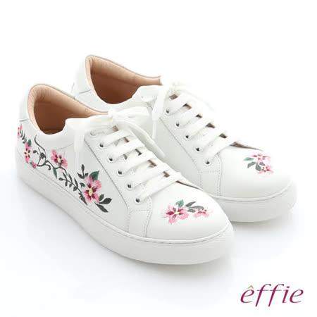 effie 牛皮精緻刺繡休閒鞋