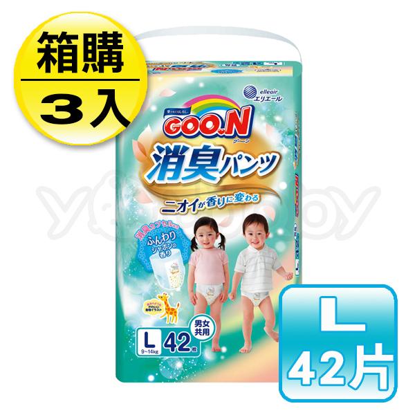 日本大王 GOO.N 境內版香香褲/紙尿褲 L (42片x3串)-箱購