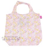 〔小禮堂〕Hello Kitty 折疊式環保購物袋《粉.牛奶.小老鼠.爬梯子》