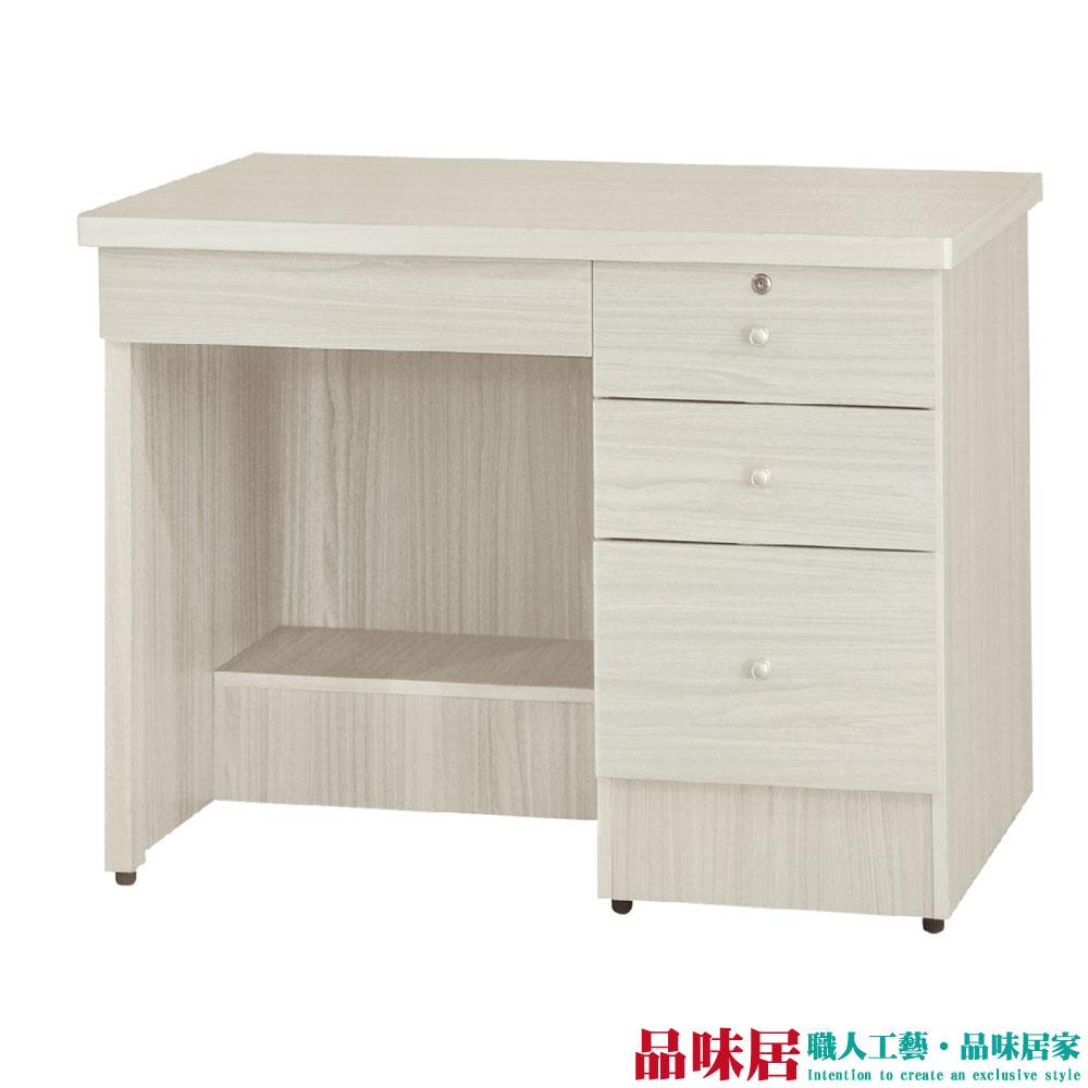 【品味居】艾多奇 時尚3.5尺木紋四抽書桌/電腦桌(二色可選)