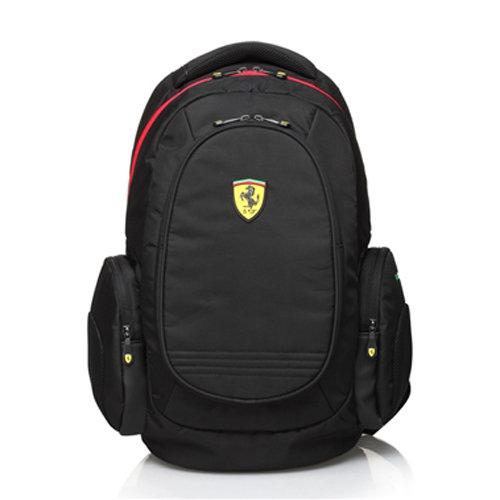 【Ferrari 法拉利】法拉利時尚防水後背包TF015B-B(黑色)